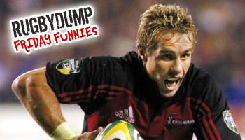 Friday Funnies - Justin Marshall over the advertising boards