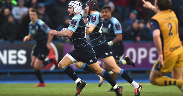 Matthew Morgan's stunning solo try helps Cardiff Blues to quarter finals