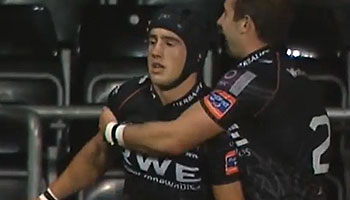 Matthew Morgan scores 90m solo effort for Ospreys against Edinburgh