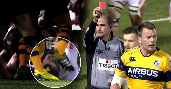 Matthew Rees facing lengthy ban after red card for vicious stamp on Nick Easter's face