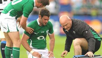 Seru Rabeni crunching tackle on Ireland's Fergus McFadden