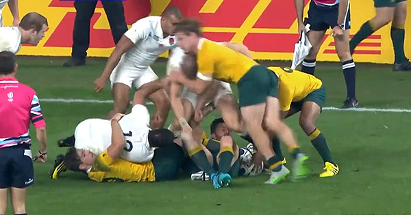Michael Hooper cited for this dangerous cleanout on Mike Brown