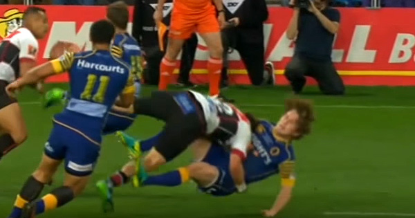 All Black legend's son makes crunching tackles vs Otago