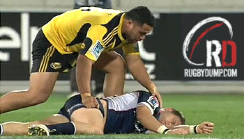 Motu Matu'u massive hits and great sportsmanship against the Rebels