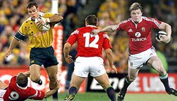 Nathan Grey smashes Brian O'Driscoll - Lions 2001