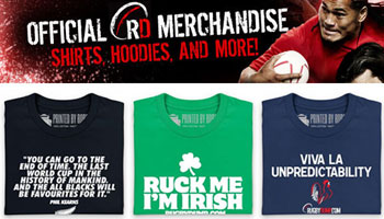 Three new supporters shirts in the Rugbydump store