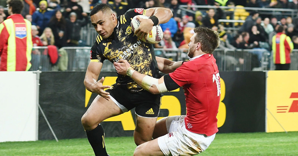 New All Black Ngani Laumape finishes brilliant Hurricanes try against the Lions
