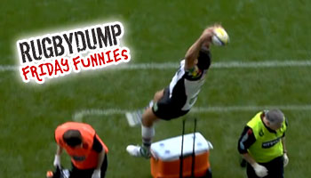Friday Funnies - Nick Easter takes a tumble over a drinks cooler