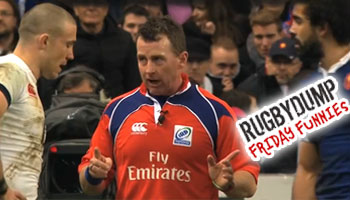 Friday Funnies - Nigel Owens tells off Mike Brown and Yoann Huget