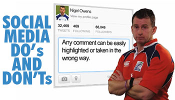 Nigel Owens with some Social Media DO's and DON'Ts
