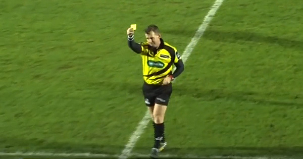 Nigel Owens with another first as he sinbins a ball boy!