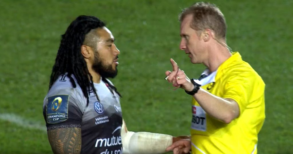 Wayne Barnes humbles moany Ma'a with a schoolboy telling off
