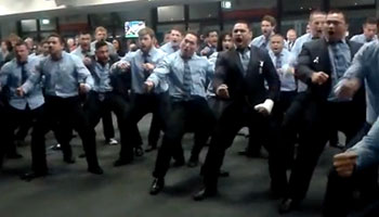 Northland Haka for departing Rene Ranger after farewell game