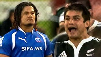 NZ Maori Haka vs Samoan Siva Tau - Pacific Nations Cup