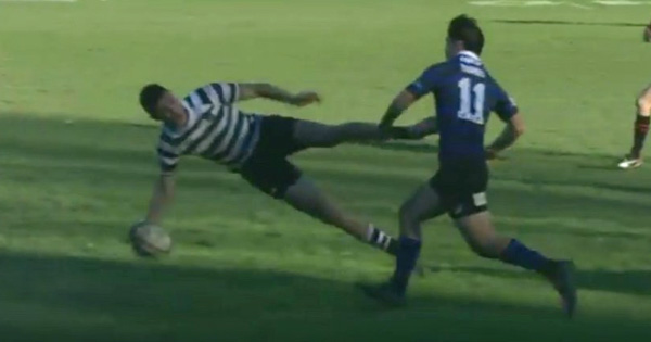 Christ's College score fantastic counter attack try with unbelievable pass