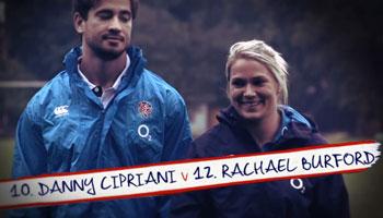Danny Cipriani vs Rachael Burford in Women's World Cup O2 Inside Line