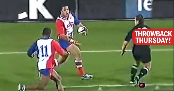 Throwback Thursday - Sione Lauaki sets up Sitiveni Sivivatu for quality 2004 Pacific Islanders try