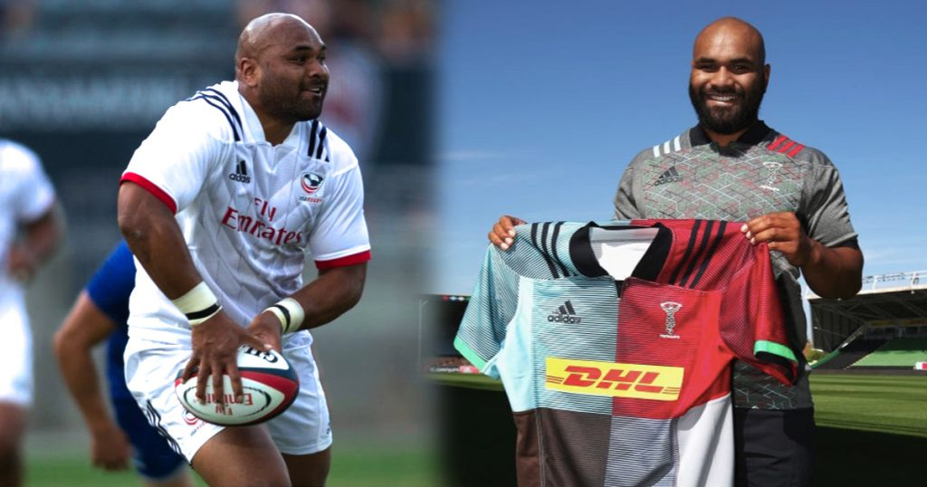 114KG back Paul Lasike unveiled by Harlequins after Utah Warriors switch