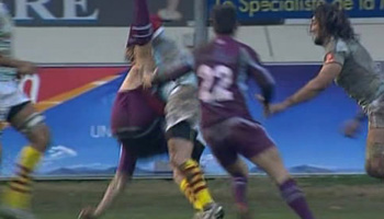 Perpignan vs Bourgoin produces two yellows and a red