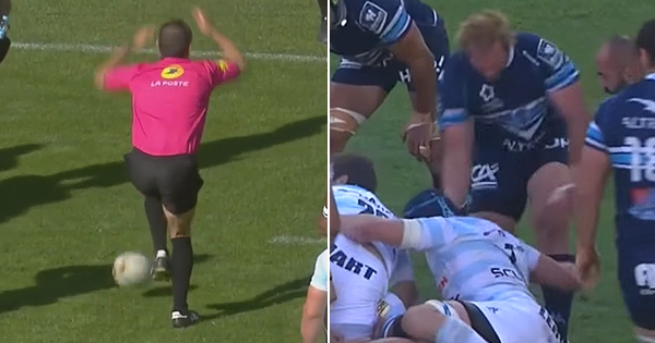 Romain Poite takes a low blow as Jannie Du Plessis sees red in Top 14 play-off