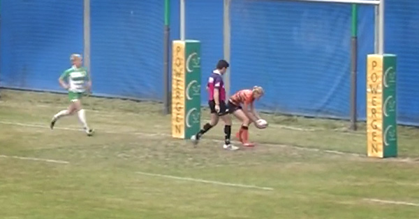 Women's Sevens player runs 80m to score then commits the ultimate sin