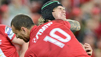 Quade Cooper suspended for one week for dangerous hit on Berrick Barnes