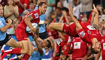 Quade Cooper's great try and big celebration against the Waratahs