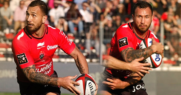 Quade Cooper no-look kick ahead sets up try on Toulon debut