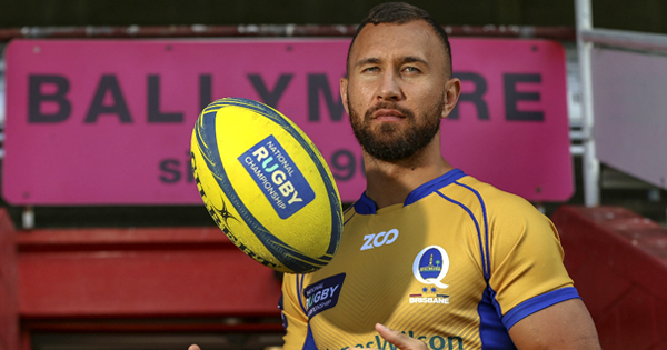 Quade Cooper laces up for Australia's National Rugby Championship