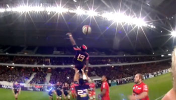 Ref Cam makes it's debut in the Top 14 with Romain Poite