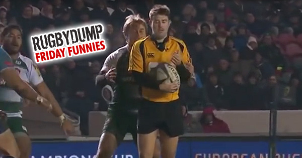 Friday Funnies - Referee Ben Whitehouse executes a perfect interception