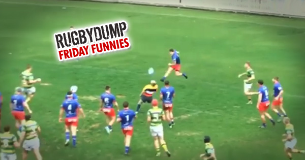 Friday Funnies: Clearance kick knocks referee clean off his feet