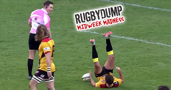 Midweek Madness - Referee accidentally trips flyhalf before kick at goal
