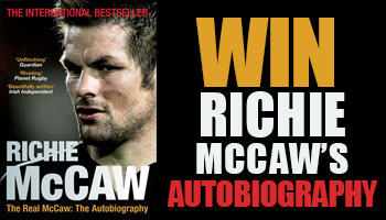 WIN a signed copy of All Black captain Richie McCaw's autobiography
