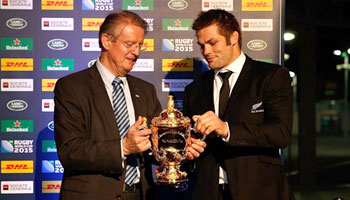 Rugby World Cup 2015 - Webb Ellis Cup hand over ceremony in Dublin
