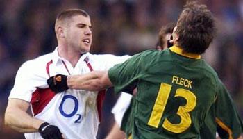 Robbie Fleck punches Ben Cohen