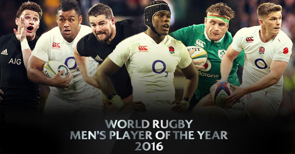 World Rugby announces Player of the Year 2016 nominees
