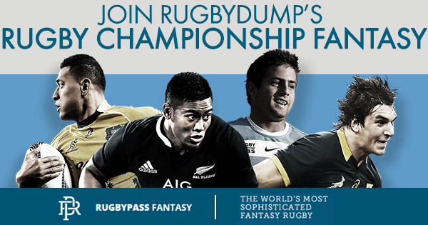 Join Rugbydump's Rugby Championship Fantasy league