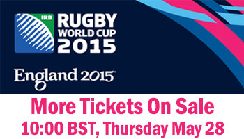 More Rugby World Cup 2015 Tickets on Sale next week