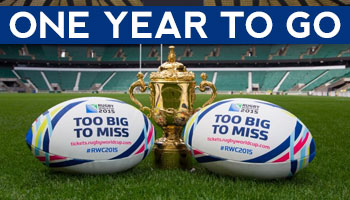One Year to Go until Rugby World Cup 2015 Kickoff