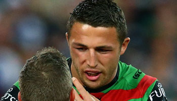 Sam Burgess breaks cheekbone in first minute, plays on and wins NRL title