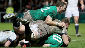 Ireland Wolfhounds hang on in face of late England Saxons chances