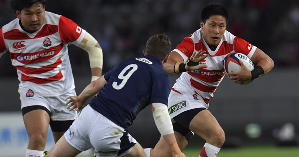 Japan's sensational length of the field try against Scotland