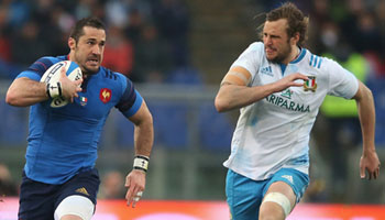 France ease to comfortable victory over Italy at wet Stadio Olimpico