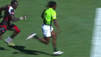 Springbok 7's flyer Seabelo Senatla scores sizzling 85m try vs Kenya