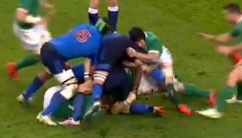 Sean O'Brien's monster ruck cleanout against France