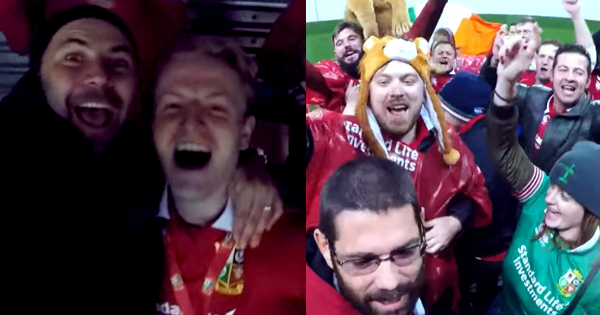 That time Sean Maloney got in amongst victorious Lions fans