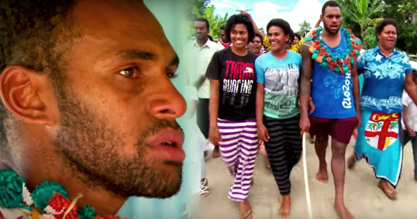 Fijian Gold Medal Winner Semi Kunatani makes emotional return to village