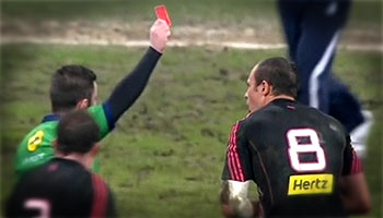 Sergio Parisse red carded and banned for insulting referee