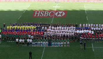 All 16 Sevens teams pay tribute to Nelson Mandela